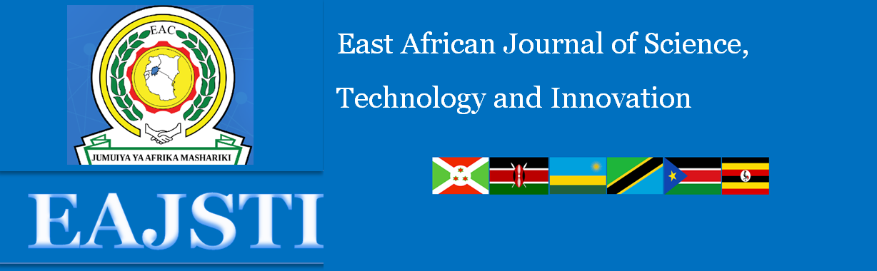 East African Journal of Science, Technology and Innovation- EAJSTI